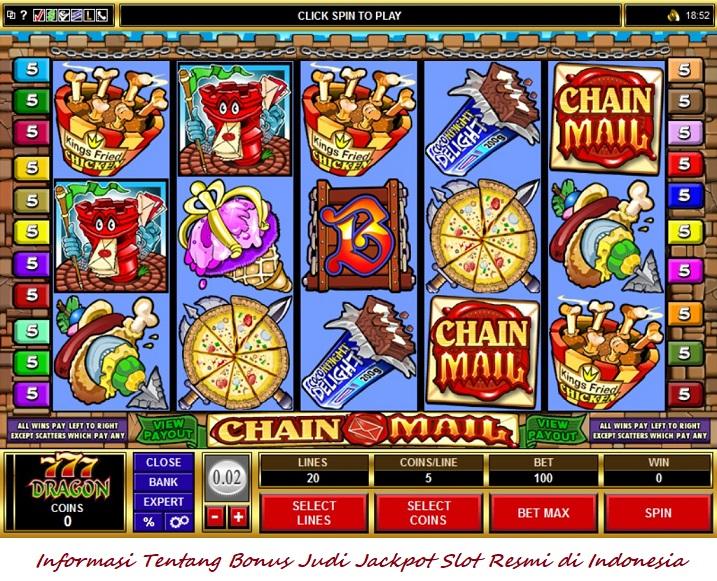 Informasi Tentang Bonus Judi Jackpot Slot Resmi di Indonesia
